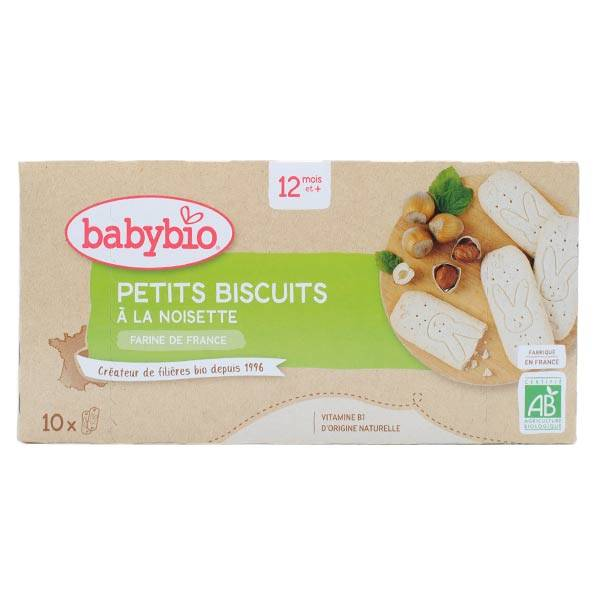 Babybio Mes Petits Biscuits à la Noisette +12m Bio 160g