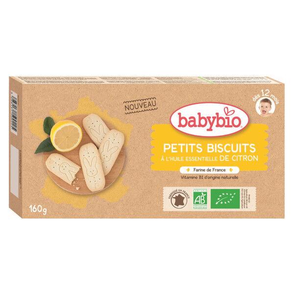 Babybio Mes Petits Biscuits à l'Huile Essentielle de Citron +12m Bio 160g