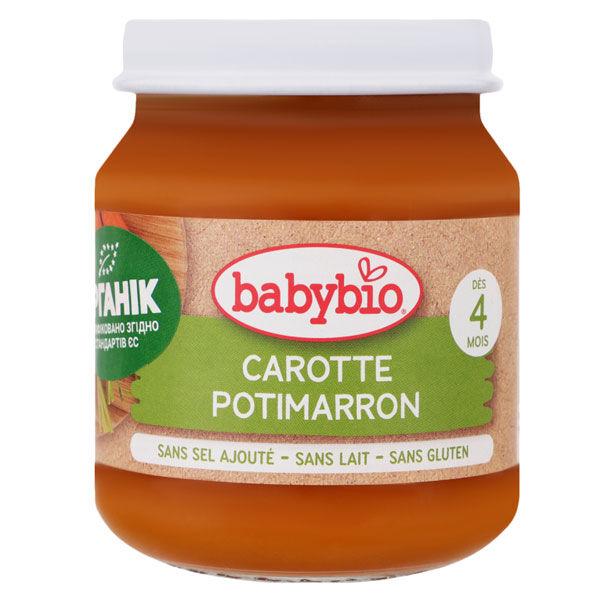 Babybio Légumes Pot Carottes des Landes Potimarron +4m Bio 130g
