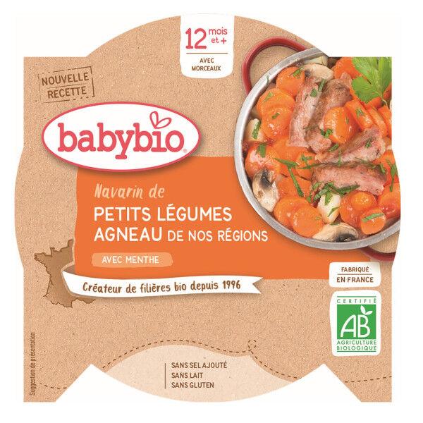 Babybio Repas Midi Assiette Navarin de Petits Légumes Agneau +12m Bio 230g