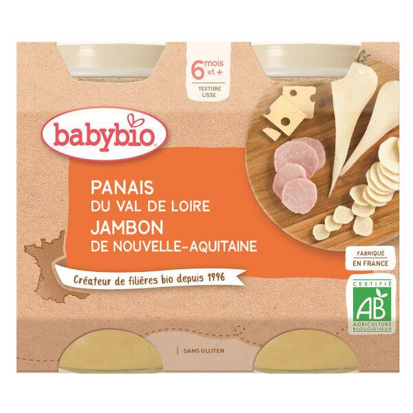 Babybio Repas Midi Pot Panais Jambon +6m Bio 2 x 200g