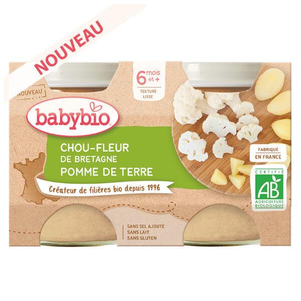 Babybio Mes Légumes Pots Chou Fleur Pomme de Terre dès 6 mois 2 x 130g