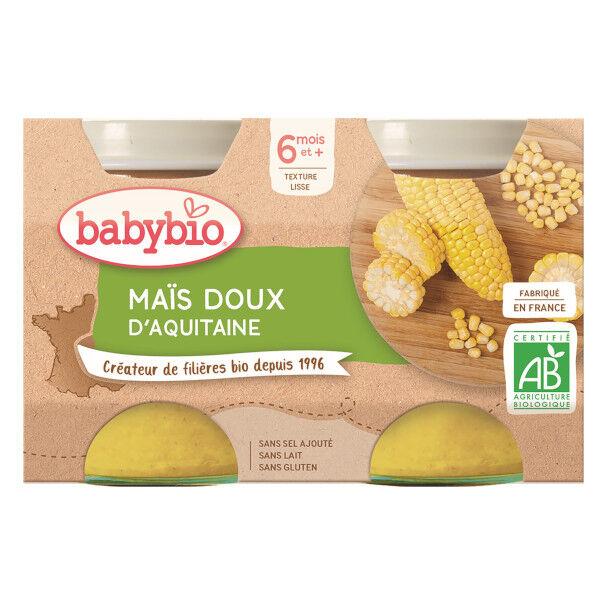 Babybio Mes Légumes Pots Maïs Doux dès 6 mois 2 x 130g