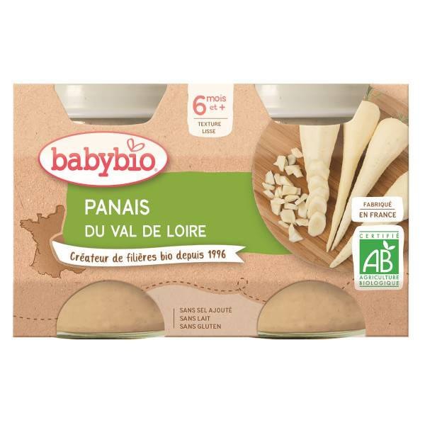 Babybio Mes Légumes Pots Panais dès 4 mois 2 x 130g