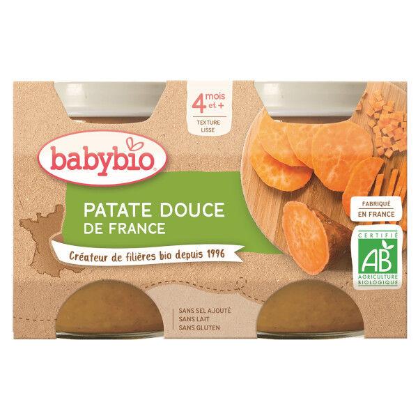 Babybio Mes Légumes Pot Patate Douce +4m Bio 2 x 130g