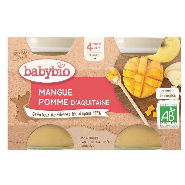 Babybio Mes Fruits Pomme Mangue dès 4 mois 2 x 130g