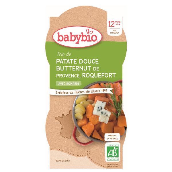 Babybio Menu du Jour Assiette Patate Douce Butternut Roquefort dès 12 mois 2 x 200g