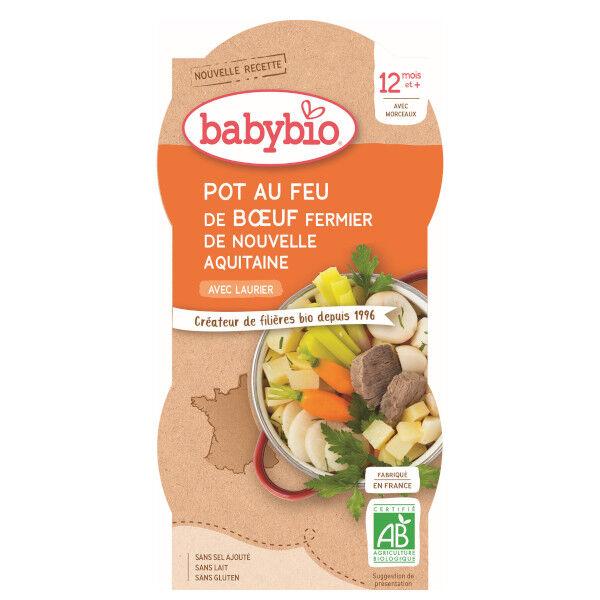 Babybio Menu du Jour Bol Pot au Feu Boeuf +12m Bio 2 x 200g