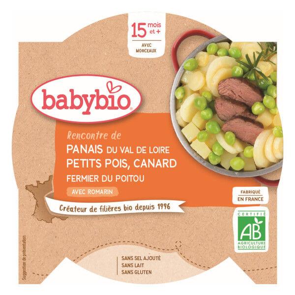 Babybio Menu du Jour Assiette Panais Petits Pois Canard +15m Bio 260g
