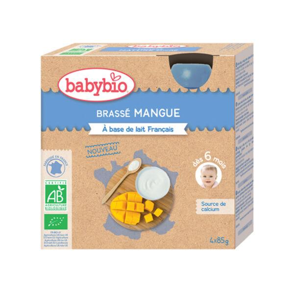 Babybio Gourdes Lactées Mes Brassés Mangue dès 6 mois 4 x 85g