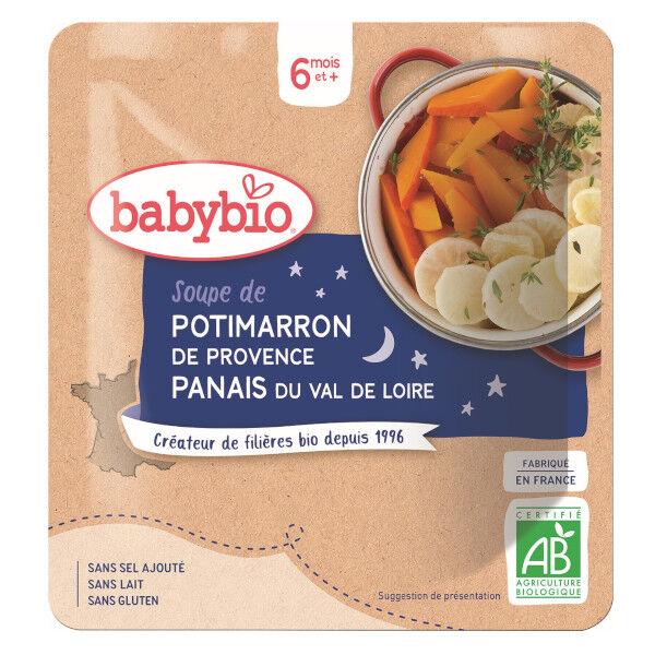 Babybio Bonne Nuit Sachet Soupe Potimarron Panais +6m Bio 190g