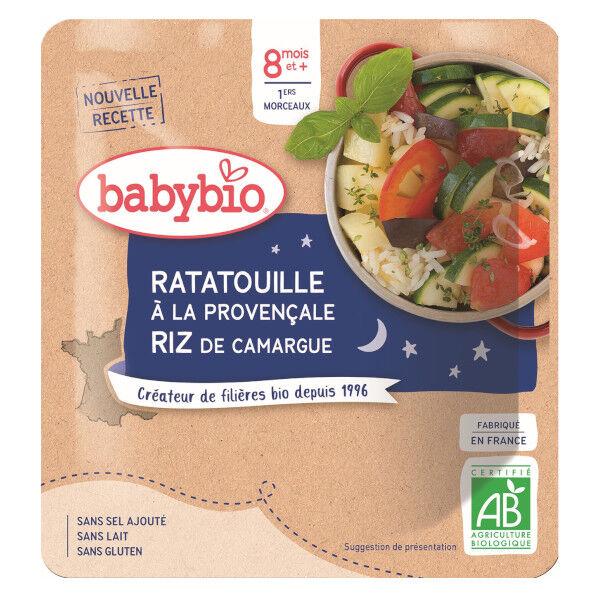 Babybio Bonne Nuit Sachet Ratatouille Provençale Riz +8m Bio 190g
