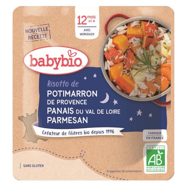 Babybio Repas Soir Sachet Risotto de Potimarron Panais +12m Bio 190g