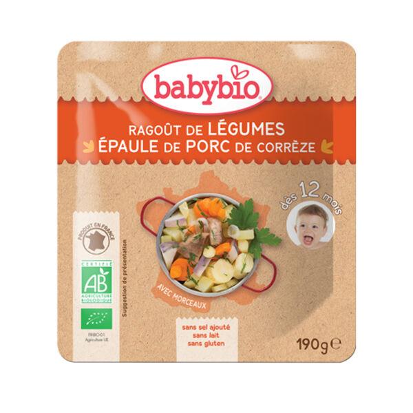 Babybio Menu du Jour Poche Ragoût de Légumes Porc dès 12 mois 190g