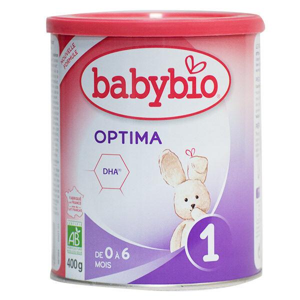 Babybio Optima Lait 1er Âge Bio 400g