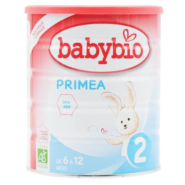Babybio Lait Primea Lait de Vache 2ème Âge Bio 800g
