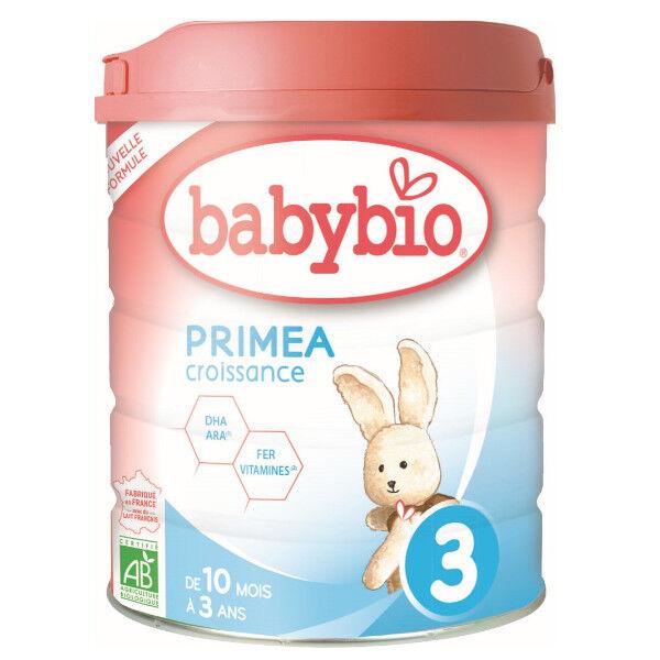 Babybio Lait Primea Lait de Vache 3ème Âge Bio 800g