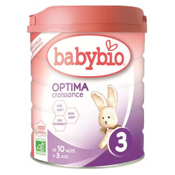 Babybio Lait Optima Lait de Vache 3ème Âge Bio 800g
