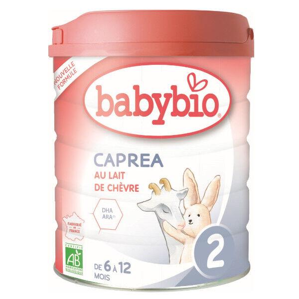 Babybio Lait Caprea Lait de Chèvre 2ème Âge Bio 800g