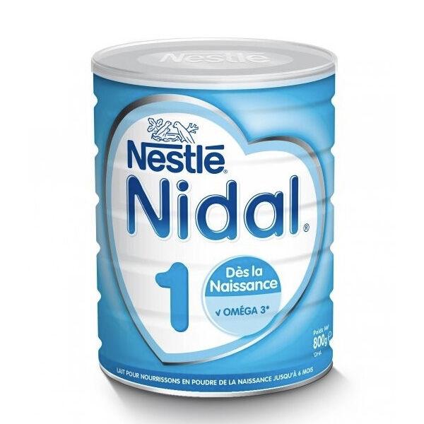 Nidal Lait en Poudre 1er Âge 0-6m 800g