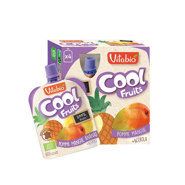 Vitabio Cool Fruits Pomme Mangue Ananas + Acérola 4 x 90g