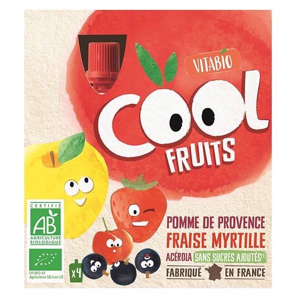 Vitabio Cool Fruits Pomme Fraise Myrtille Acérola Bio Lot de 4 x 90g