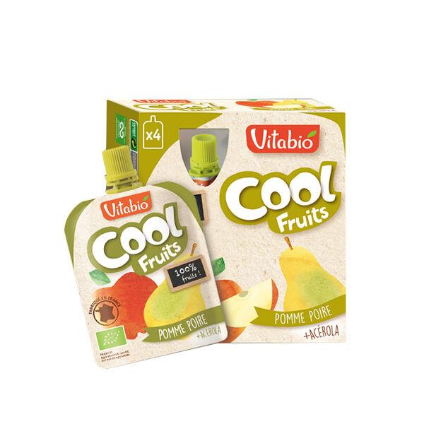 Vitabio Cool Fruits Pomme Poire + Acérola 4 x 90g