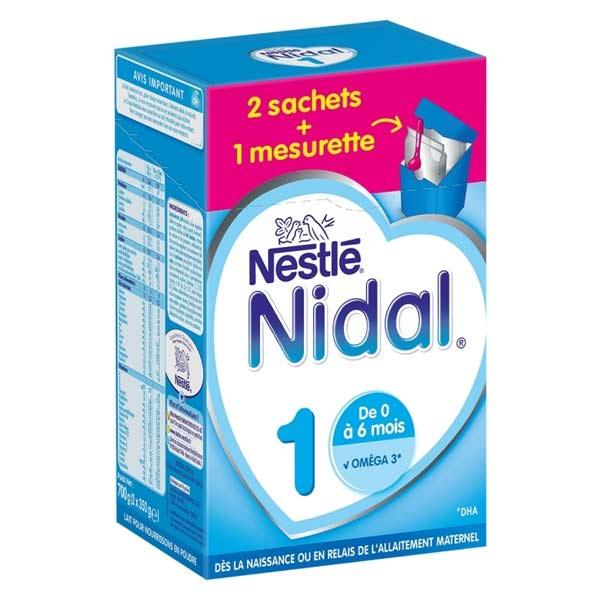 Nidal Lait en Poudre 1er Age 700g