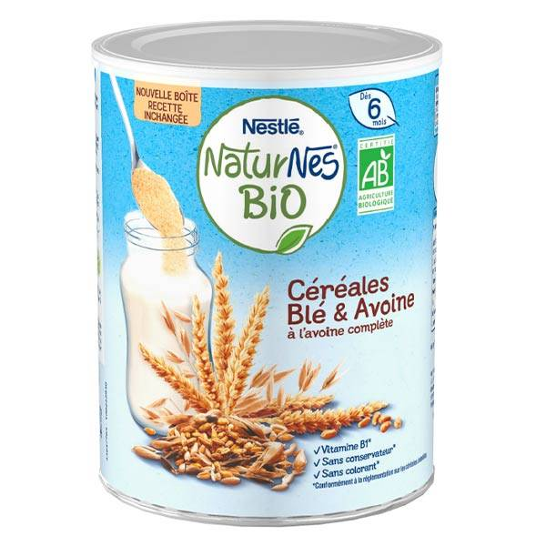 Naturnes Nestlé Naturnes Céréales Blé & Avoine Bio 240g