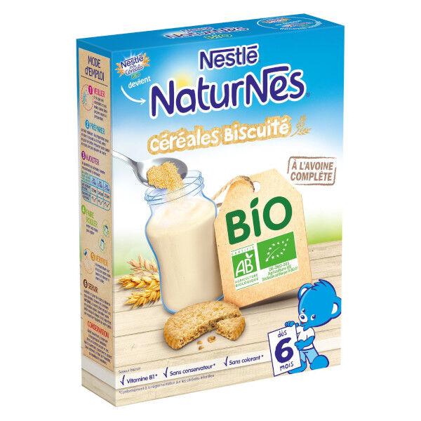 Nestlé Naturnes Céréales Biscuités Bio 240g