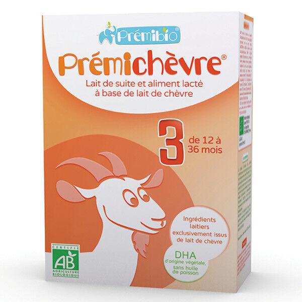 Prémibio Prémichèvre Lait de Suite 3ème âge 12 à 36 mois 600g