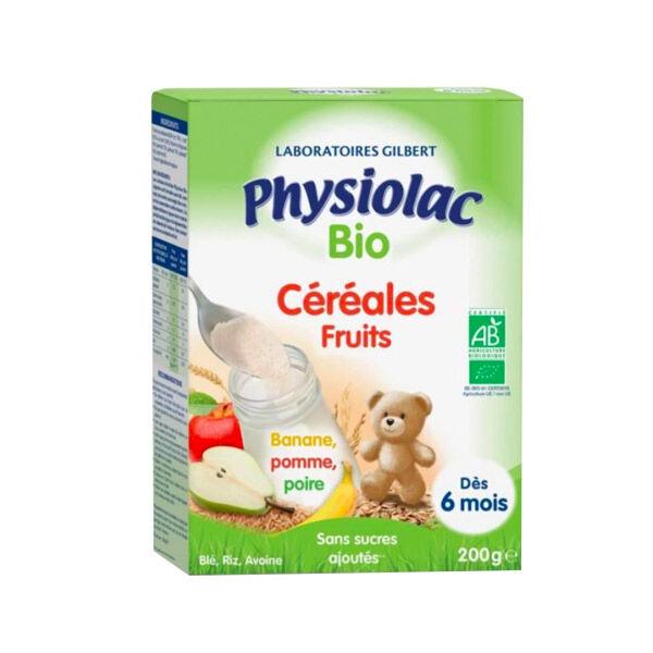 Physiolac Bio Céréales Fruits 6 mois+ 200g