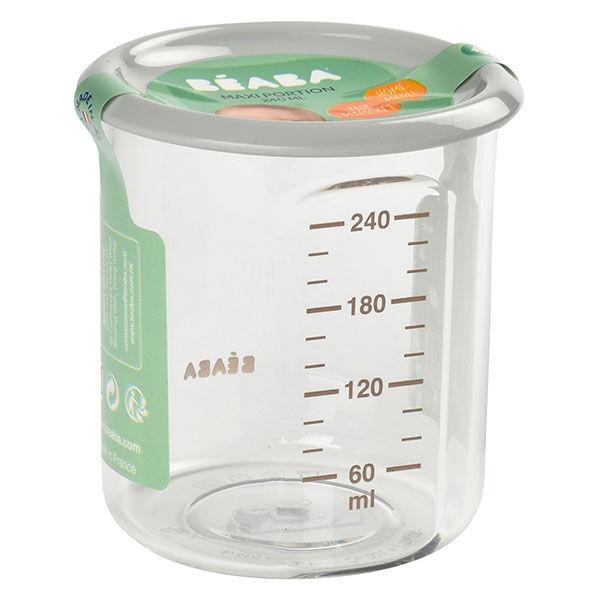 Béaba Portion Maxi Pot de Conservation en Tritan Gris 240ml