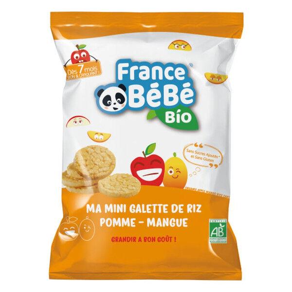 France Bébé Bio Mini Galette de Riz Pomme Mangue 40g