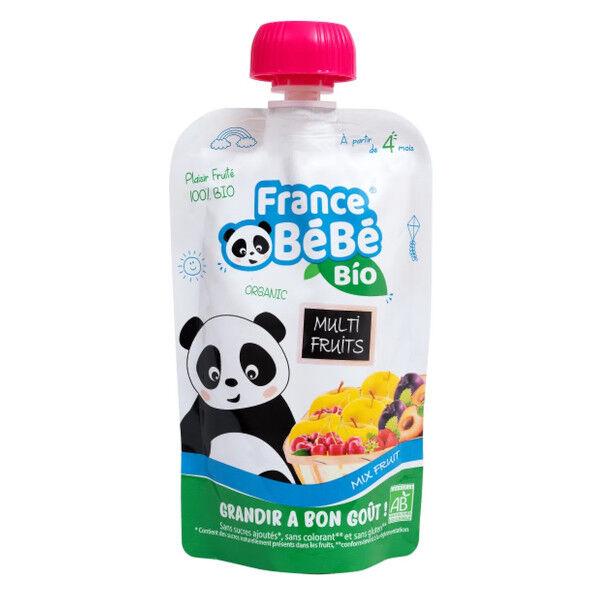 France Bébé Bio Gourdes Multi Fruits 100g
