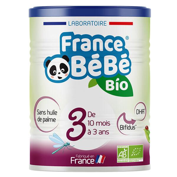 France Bébé Nutrition France Bébé Bio Lait Croissance 3ème Âge 400g