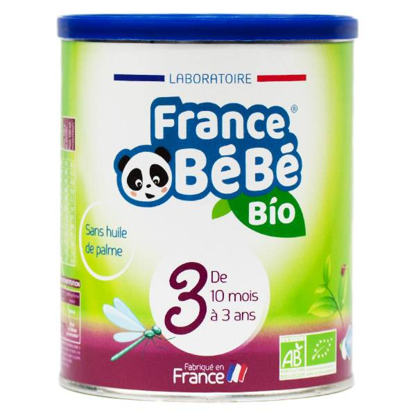 France Bébé Bio Croissance Lait 3ème Age 400g