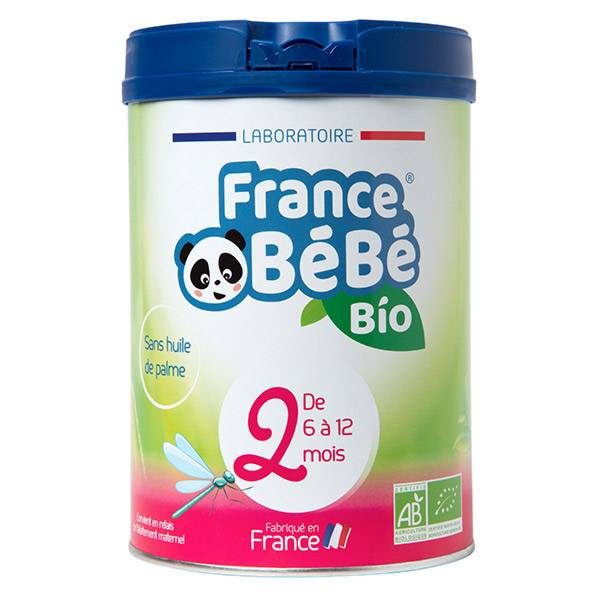 France Bébé Nutrition France Bébé Bio Lait 2ème Age 800g