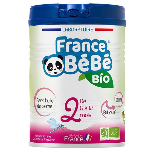 France Bébé Nutrition France Bébé Bio Lait 2ème Âge 800g