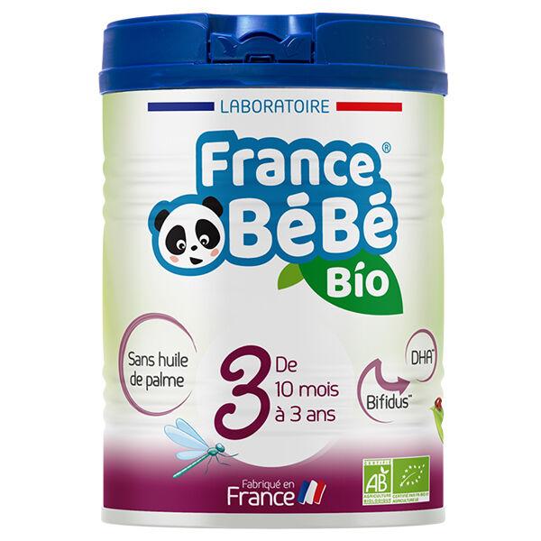 France Bébé Nutrition France Bébé Bio Lait Croissance 3ème Âge 800g
