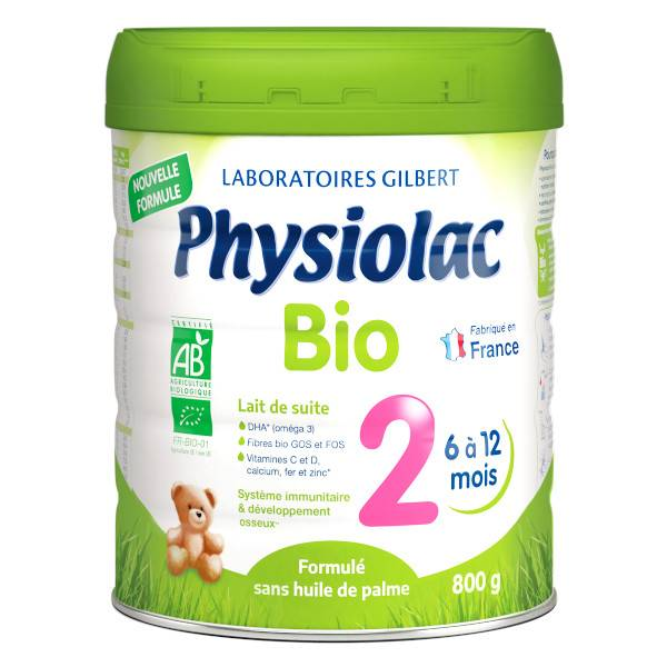 Physiolac Bio Lait 2ème Age 800g