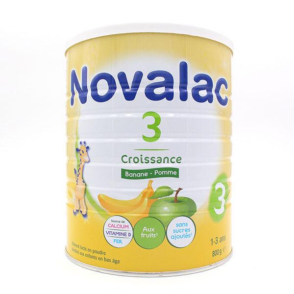 Novalac Lait de Croissance 3ème Âge Banane Pomme 800g