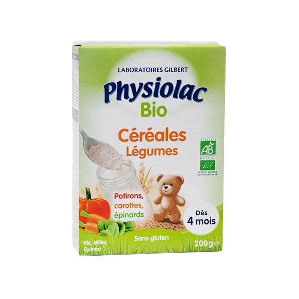Physiolac Bio Céréales aux Légumes +4m 200g
