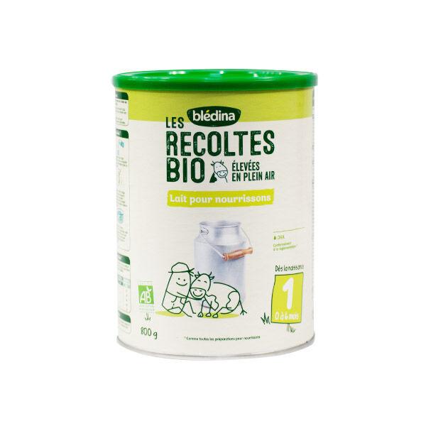 Blédina Les Récoltes Bio Lait 1er Âge 800g