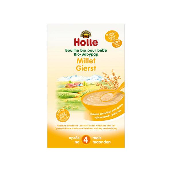 Holle Bouillie Millet Sans Gluten Bio +4m 250g