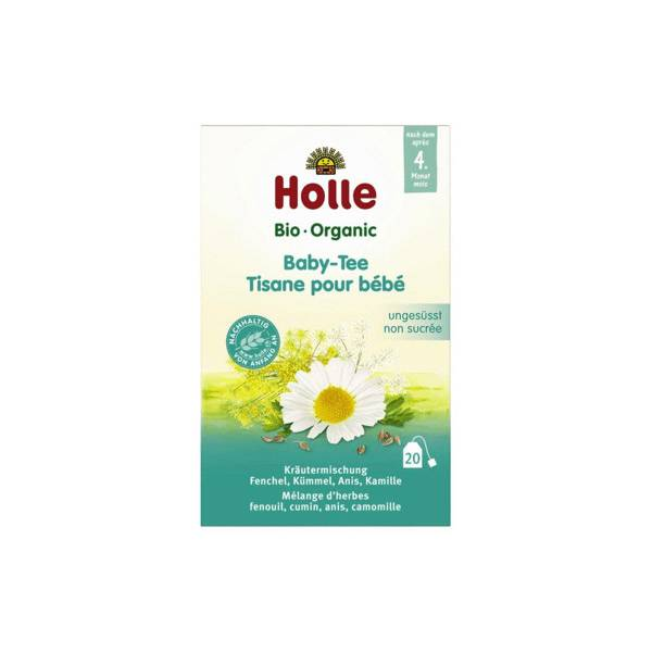 Holle Tisane pour Bébé Non Sucrée Bio +4m 20 sachets