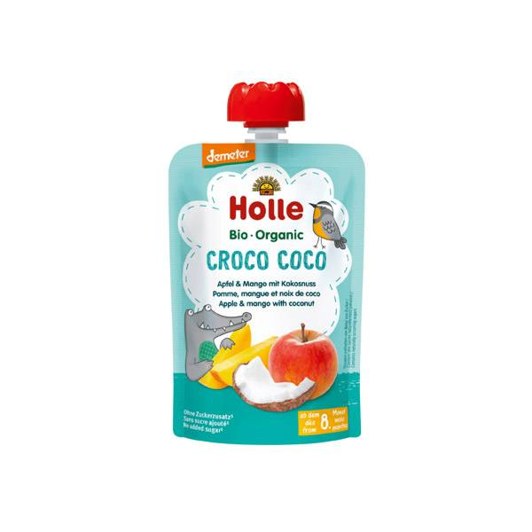 Holle Gourde Pouchy Pomme Mangue Noix de Coco Bio +8m 100g