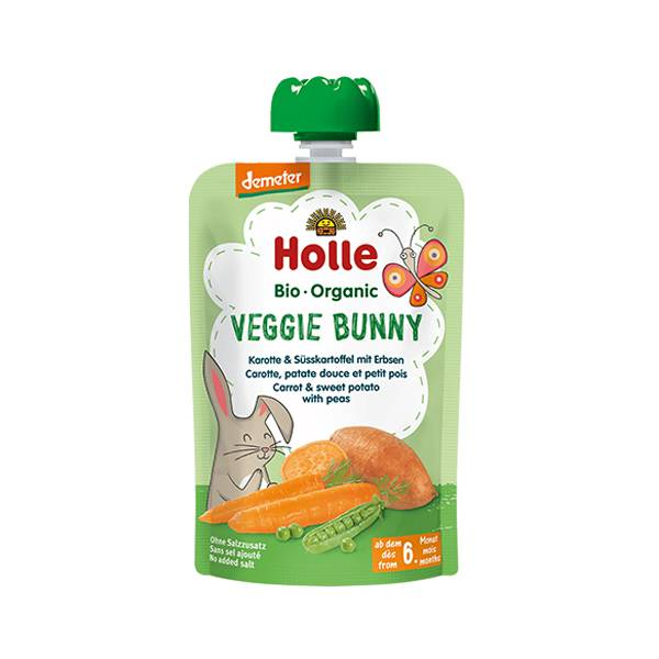 Holle Bio Gourde Carotte Patate Douce Petit Pois +6m 100g