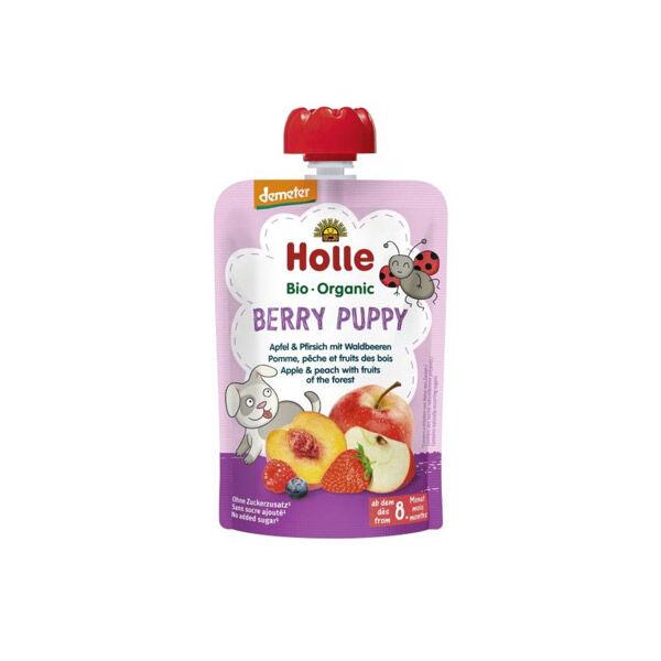 Holle Gourde Pouchy Pomme Pêche Fruits des Bois Bio +8m 100g