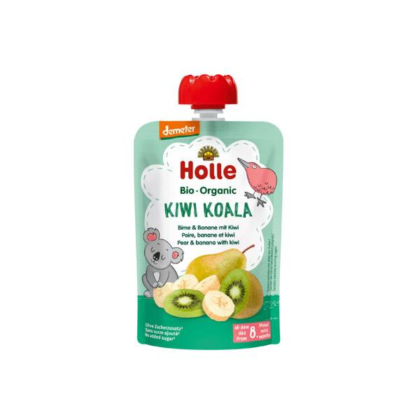 Holle Gourde Pouchy Poire Banane Kiwi Bio +8m 100g